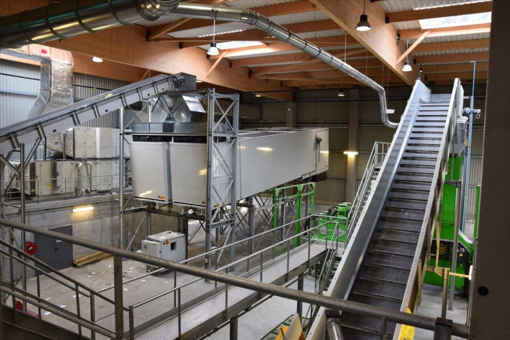 Conveyors enable the materials to be taken for treatment or to be removed after treatment